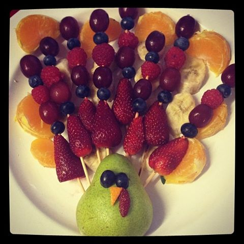 I made a fruit turkey!