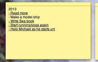My 2013 Resolutions