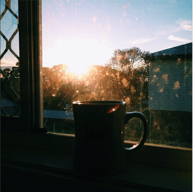 Tea and sunset