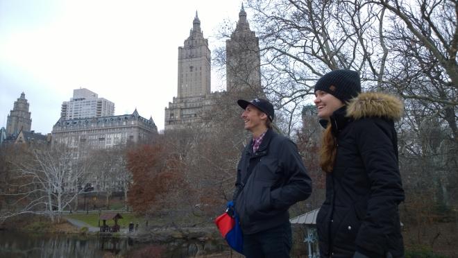 Exploring Central Park.